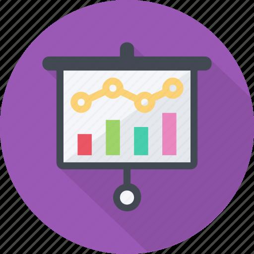 analysis, data, graph, presentation, report, research, revenue, sales icon