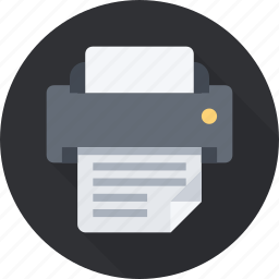 fax, ink, laser, paper, print, printer, quality icon