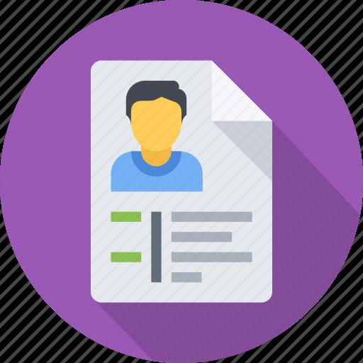 application, curriculum, cv, jod, recruitment, resume, vitae icon