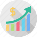 dollar, earning, income, increase, monetize, revenue, sale icon