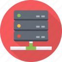 center, cloud, data, database, hosting, rack, server, storage icon