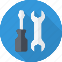 machine, mechanism, repair, screwdriver, setting icon