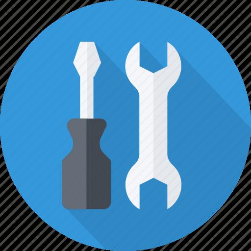machine, mechanism, repair, screwdriver, setting icon