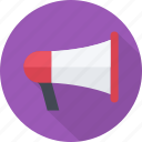 conference, event, loud, megaphone, presentation, sound, speaker icon