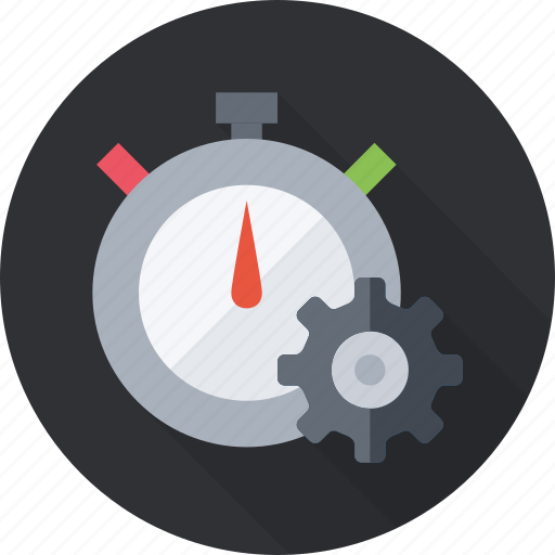 clock, gear, reminder, time, timer, watch icon