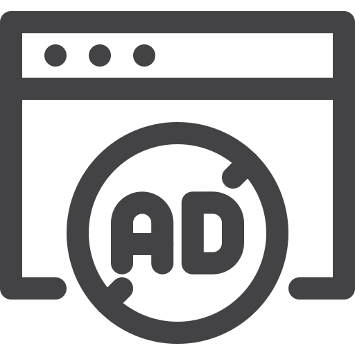 adblock, advertising, blocked, internet, seo icon