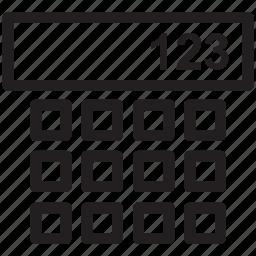 dial pad, grid, keypad, layout, nine squares icon