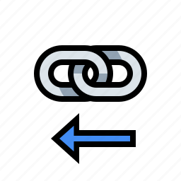inbound link, internal link, link, marketing, seo icon