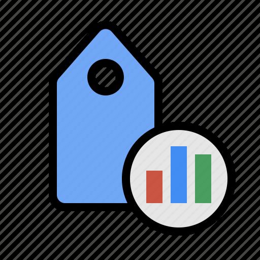 keyword analytics, keyword performance, marketing, seo, tag analytics, tag performance, term analytics icon