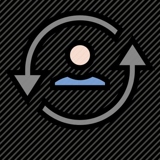 marketing, page loyalty, return visitor, seo, user loyalty icon