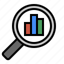 analytics, chart, marketing, metrics, performance, search, seo icon