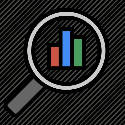analytics, chart, marketing, metrics, performance, search, seo icon