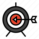 bullseye, marketing, seo, target icon