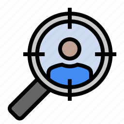 market search, marketing, search, seo, target audience, target market icon