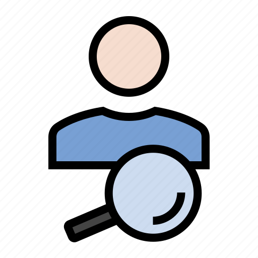 find, magnifying glass, marketing, search, seo, user icon