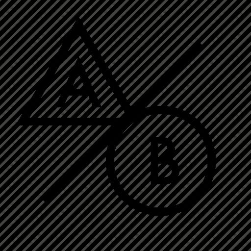 a-b testing, ab testing, focus group, marketing, seo, user testing icon