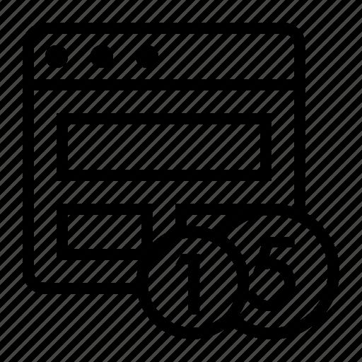 marketing, page monetization, seo, site optimization icon