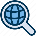 global, search, web icon