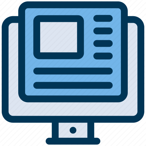 article, blog, content icon