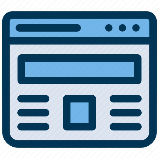 content, template, website icon