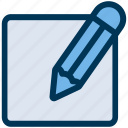 blog, comment, edit icon