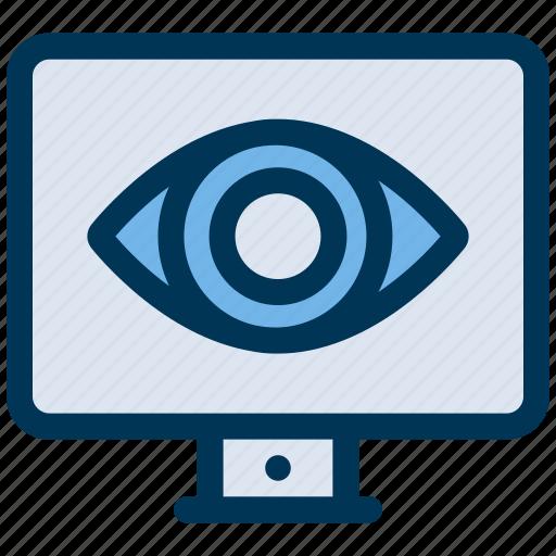 Eye, monitoring, watching icon - Download on Iconfinder