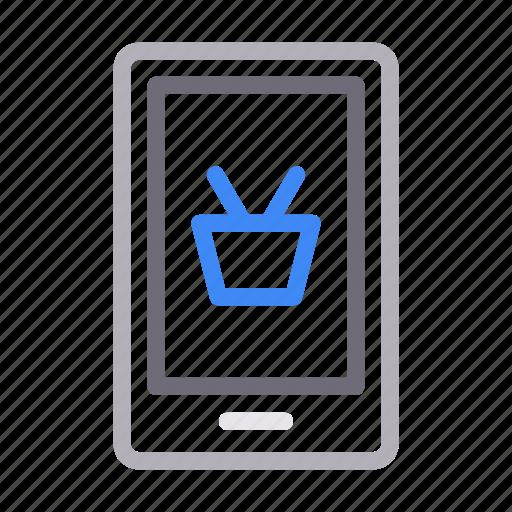 ecommerce, mobile, phone, seo, shopping icon