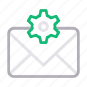 inbox, mail, message, seo, setting
