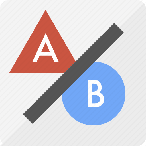 a-b testing, ab testing, focus group, marketing, seo, user testing icon