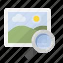 find image, image search, marketing, picture search, seo icon