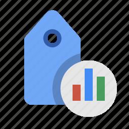keyword analytics, keyword performance, marketing, seo, tag analytics, tag performance icon
