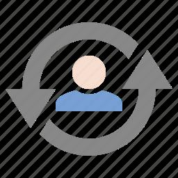 marketing, return visitor, seo, user loyalty, visitor loyalty icon