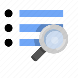 list, marketing, popularity, search, search results, seo icon