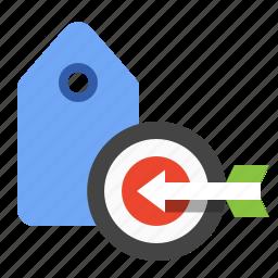 marketing, seo, target keywords, target tags, target terms icon