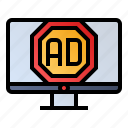 ad blocker, advertising, technology, website icon