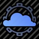 cloud, maintenance, services, settings icon