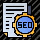 document, optimization, page, seo icon
