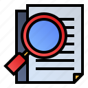 document, magnifier, page, search icon