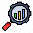 engine, graph, research, survey icon