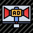 marketing, promotion, seo, web advertising, website icon