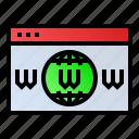 internet, web, webpage, website, www icon