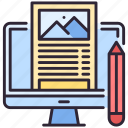 article, blogging, computer