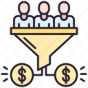 conversion, funnel, money