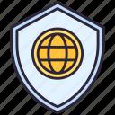 globe, shield, world