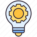 gear, idea, lamp
