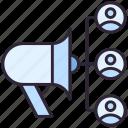 advertising, marketing, megaphone