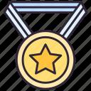 award, medal, star