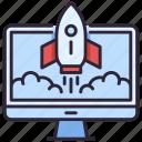 computer, launch, rocket