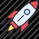 launch, rocket, startup