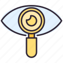 eye, magnifier, search